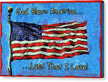 God Bless America  Canvas Print by Barbara Snyder
