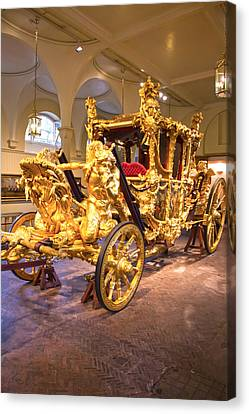 Gold State Coach Queen Elizabeth II Canvas Print by David French