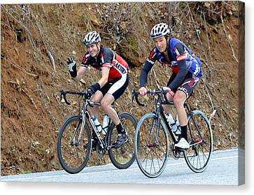 Gran Fondo Bike Ride Canvas Print by Susan Leggett