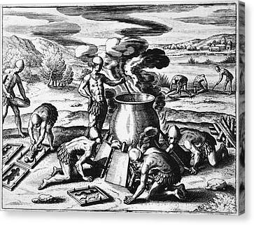 Guiana Gold Casting, 1599 Canvas Print by Granger