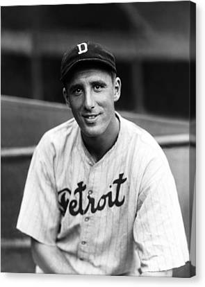 Hank Greenberg Detroit Canvas Print by Retro Images Archive