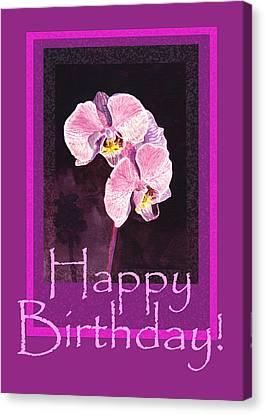 Happy Birthday  Canvas Print by Irina Sztukowski