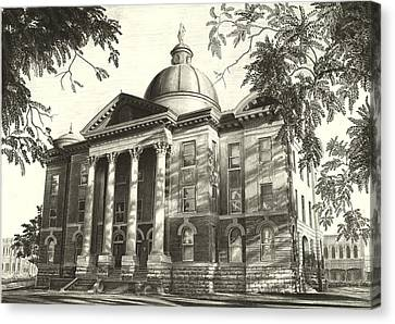 Hays County Courthouse Canvas Print by Norman Bean