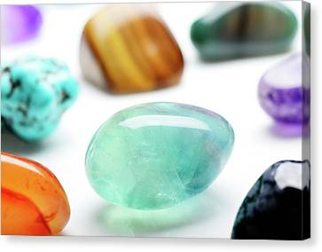 Healing Gemstones Canvas Print by Cordelia Molloy