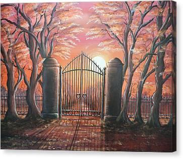 Heavens Gates Canvas Print by Krystyna Spink