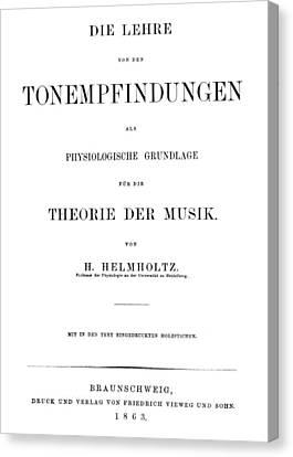 Hermann Von Helmholtz (1821-1894) Canvas Print by Granger