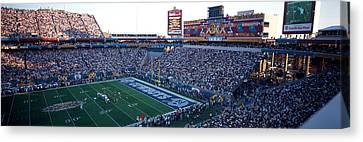 High Angle View Of A Football Stadium Canvas Print by Panoramic Images