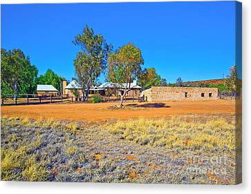 Historical Telegraph Station Alice Springs  Canvas Print by Bill  Robinson