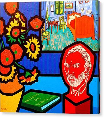 Homage To Vincent Van Gogh Canvas Print by John  Nolan