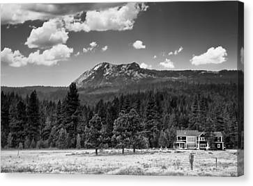 Home In The Valley Canvas Print by Mick Burkey