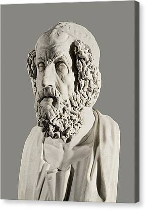 Homer 9th Century  Bc. Greek Writer Canvas Print by Everett