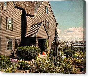 House Of The Seven Gables Canvas Print by Lourry Legarde