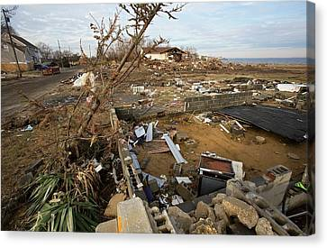 Hurricane Sandy Damage Canvas Print by Jim West