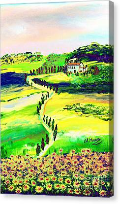 Il Casale Canvas Print by Loredana Messina