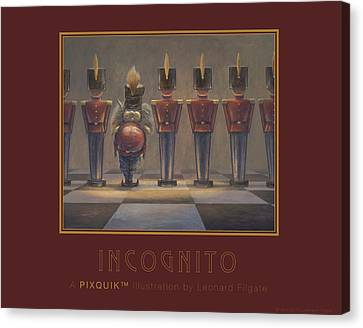 Incognito Canvas Print by Leonard Filgate