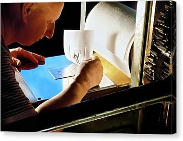 Intaglio Printmaking Canvas Print by Patrick Landmann