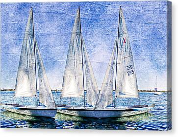 Into The Blue Canvas Print by Debra and Dave Vanderlaan
