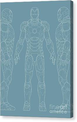 Iron Man Canvas Print by Caio Caldas