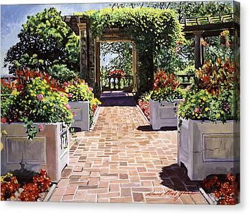 Italian Elegance Canvas Print by David Lloyd Glover