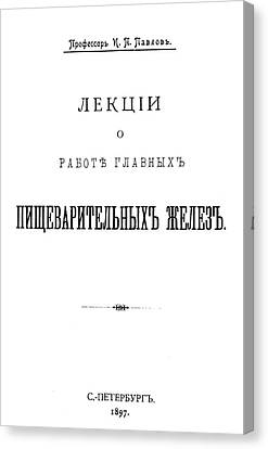 Ivan Petrovich Pavlov (1849-1936) Canvas Print by Granger