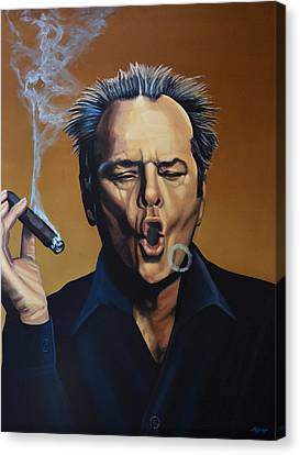 Jack Nicholson Painting Canvas Print by Paul Meijering