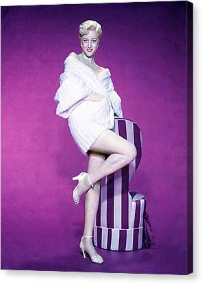 Jan Sterling Canvas Print by Silver Screen