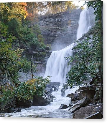 Kaaterskill Falls Square Canvas Print by Bill Wakeley