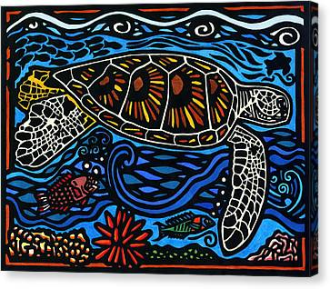 Kahaluu Honu Canvas Print by Lisa Greig