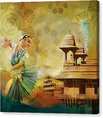 Kathak Dancer Canvas Print by Catf