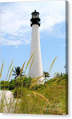 Key Biscayne Lighthouse Canvas Print by Carey Chen