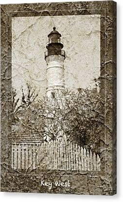 Key West Lighthouse Canvas Print by John Stephens