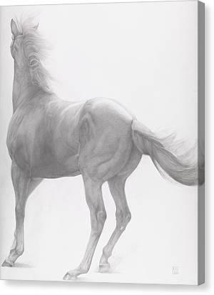 Kicking Off Canvas Print by Emma Kennaway