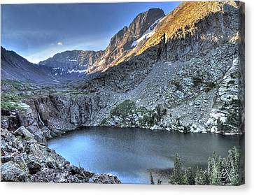 Kit Carson Peak And Willow Lake Canvas Print by Aaron Spong