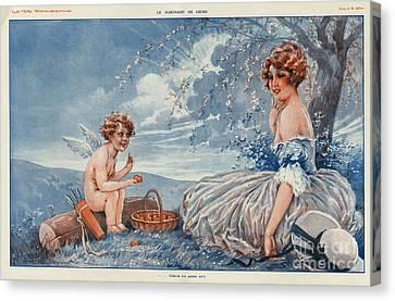 La Vie Parisienne 1916 1910s France Canvas Print by The Advertising Archives