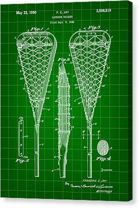 Lacrosse Stick Patent 1948 - Green Canvas Print by Stephen Younts