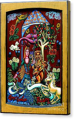 Lady Lion And Unicorn Canvas Print by Genevieve Esson