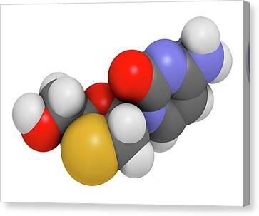 Lamivudine Antiviral Drug Molecule Canvas Print by Molekuul