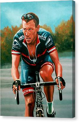 Lance Armstrong Canvas Print by Paul Meijering