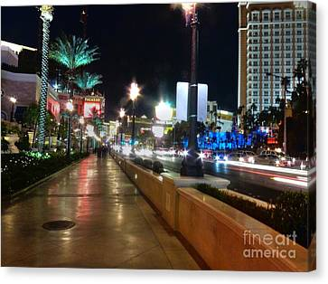 Leaving Las Vegas Canvas Print by David Bearden