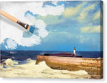 Lighthouse At Whitehaven Canvas Print by Amanda And Christopher Elwell
