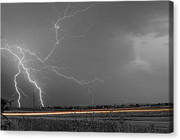 Lightning Thunderstorm Dragon Canvas Print by James BO  Insogna