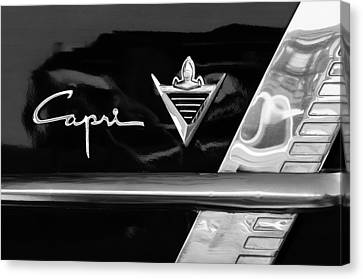 Lincoln Capri Emblem Canvas Print by Jill Reger