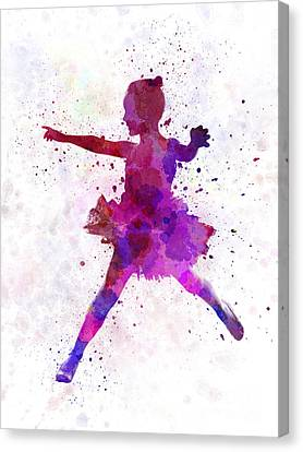Little Girl Ballerina Ballet Dancer Dancing Canvas Print by Pablo Romero