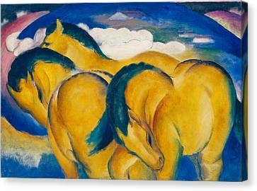 Little Yellow Horses Canvas Print by Franz Marc