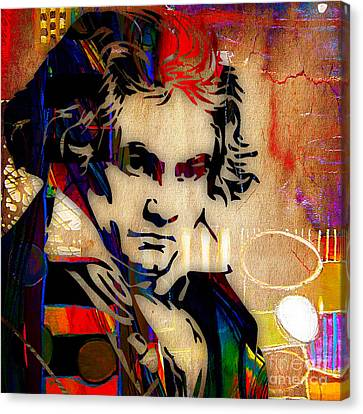 Ludwig Van Beethoven Collection Canvas Print by Marvin Blaine