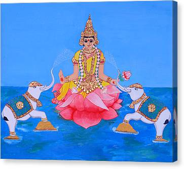 Mahalakshmi Canvas Print by Pratyasha Nithin