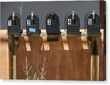Mailboxes Santa Fe Nm Canvas Print by David Litschel