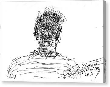 Man Head Canvas Print by Ylli Haruni