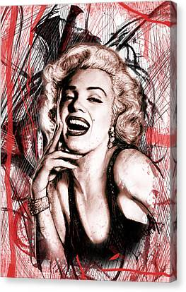 Marilyn Monroe Art Long Drawing Sketch Poster Canvas Print by Kim Wang
