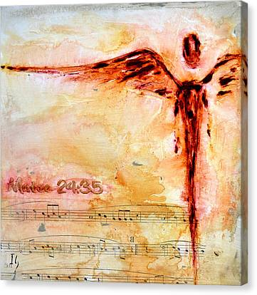 Mateo 24 35 Canvas Print by Ivan Guaderrama